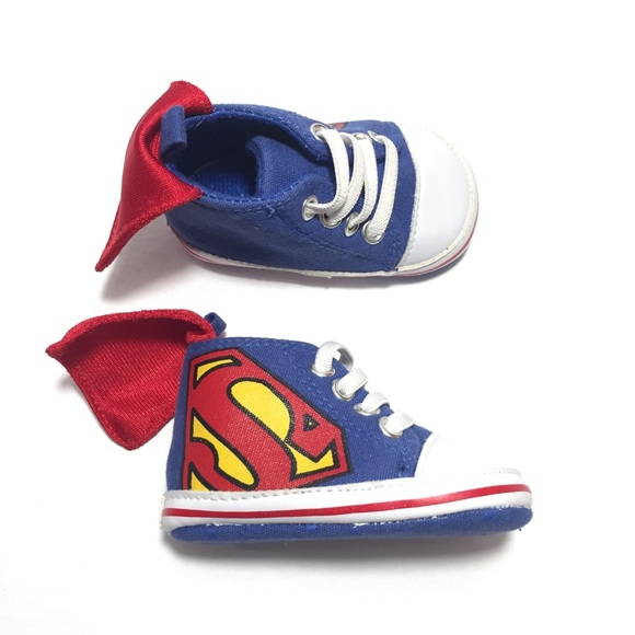 DC Comics Other - Infant Baby Boy Shoes SUPERMAN HIGH TOPS BOOTS e62dd673b6f